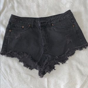 Black jean shorts from H&M